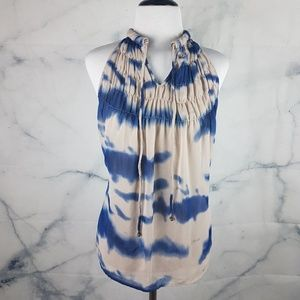 ADIVA Sleeveless Top w/ Tie Dye Print